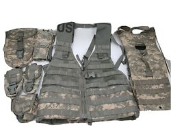 Rifleman Kit Molle Ii Acu Vest+hydration Carrier+ 6 Pouches Vg