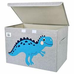 CLCROBD Foldable Large Kids Toy Chest with Flip Top Lid Assorted Colors