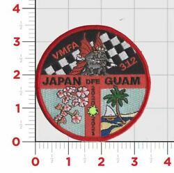 Usmc Marine Corps Vmfa-312 Japan Guam Checker Squad Hook Loop Embroidered Patch