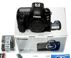 Canon Eos 5d Mark 4 30.4mp Dslr Camera Body With Box Near Mint Fedex From Japan