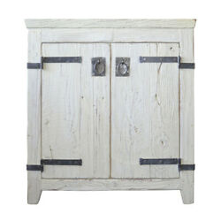 Native Trails Vnb30 White Americana 30 Wooden Vanity Cabinet Only