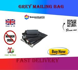Grey Poly Mailers Plastic Envelopes Shipping Postal Bags With Self Sealing Strip