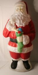Vintage Empire Blow Mold 40 Santa Clause Lighted Works