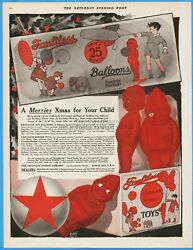 1920 Faultless Rubber Co Ashland,oh Balloons Toys Sweetie Biddy Christmas Ad