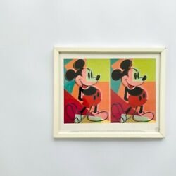 Andy Warhol Framed Vintage Poster Disney Mickey Made In Germany Made In 1994