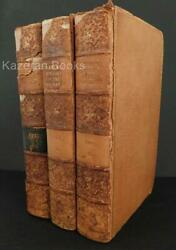 3x Volume Set Antique Leather Bound Book History Of Anglo Saxons Turner 1836