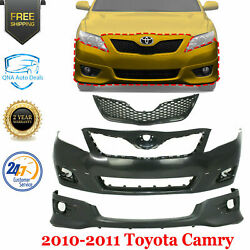 Front Bumper Cover + Grille + Lower Valance For 2010-2011 Toyota Camry Se Model
