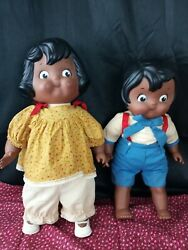 Vintage 1980s Campbell Soup Kids 16 Two Collectible Dolls Aa African Americans