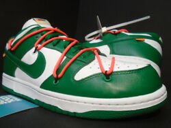 Nike Sb Dunk Low Leather Lthr / Ow Off-white Pine Green Cali Buck Ct0856-100 11