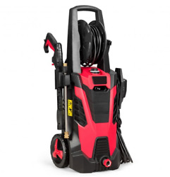 3500 Psi High Electric Pressure Washer With Hose Reel And Soap Bottle