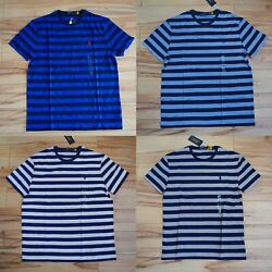 Polo Menand039s Stripe Classic Fit Short Sleeve T-shirt