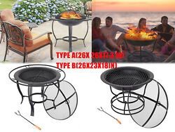 2in1 Wood Burning Fire Pits Outdoor Heater Backyard Deck Patio Bbq Garden Stove