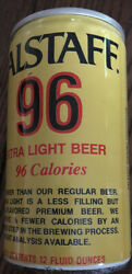 Falstaff 96 Extra Light Beer 12 Oz Vintage Beer Can. Mancave Collectibles