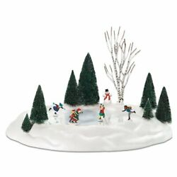 Department 56 Village Animated Ice Skating Pond Accessory Figurine 801130 New