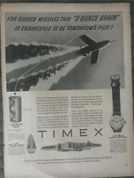 Timex Watchesengineered To Be Tomorrows Pilot1954 Vintage Print Ad A83