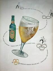 Balatineand039sbeeralegreen Bottlecolorfull Page1949 Vintage Print Ad A7