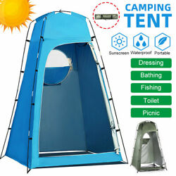 Outdoor Camping Shower Tent Changing Privacy Portable Toilet Bath Tents Room Kit