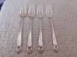 Set Of 4 1847 Rogers Is Eternally Yours Silverplate 6 3/4 Salad Forks
