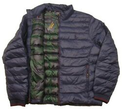 Polo Menand039s Cruise Navy Packable Quilted Puffer Jacket