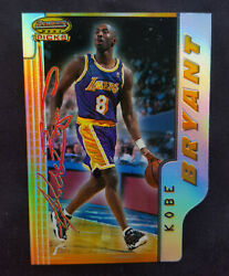 1996 Bowmanand039s Best Picks Kobe Bryant Refractor Rookie Nm-mt+ Rc With Magnet Case