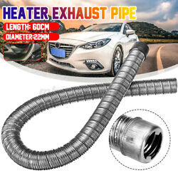 60cm 22mm Stainless Steel Air Diesel Exhaust Pipe With Cap For Webasto Heater