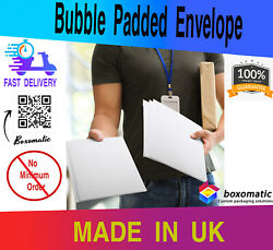 New White Bubble Mailers Shipping Mailing Poly Padded Bags Envelopes