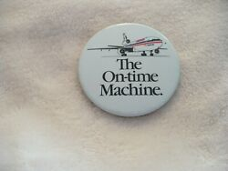 Oy- The On-time Machine Pin Badge American Airlines 1988 Commerical 29392