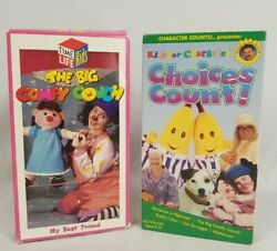 Kids for Character Choices Count 2 VHS 1997 RARE Big Comfy Couch Tested $14.99