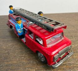 Tin Toy Fire Truck Vintage Ladder Truck Sti Toy Car Rare Original From Japan