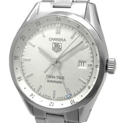 Tag Heuer Carrera Twin Time Mens Automatic Winding Gmt Date Wv2116.ba0787