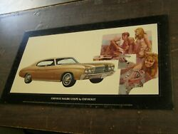 Oem Chevrolet 1970 Chevelle Malibu Coupe Dealership Display Picture Cardboard