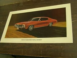 Oem Chevrolet 1971 Chevelle Malibu Coupe Dealership Display Picture Cardboard