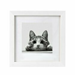 10x10 Picture Frames White Matted 6x6 Frames With Wooden Square Photo Frame P...