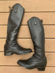 Ariat Heritage Contour Field Zip Tall Boots Size 7 Calf Xs Height Med
