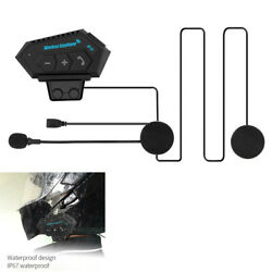 Bluetooth Motorcycle Helmets Headset Anti-interference Interphone Rechargeable
