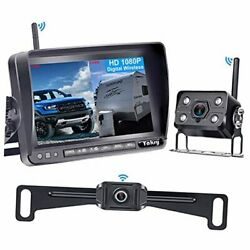Wireless Backup Camera For Rv Hd 1080p,7 Inch Dvr Monitor With Car/truck