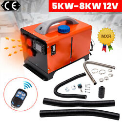 12v Air Diesel Heater 8kw 4holes All In One +lcd Monitor For Rv Trailer Bus Car