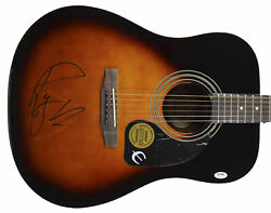 Roger Waters Pink Floyd Authentic Signed Brown Epiphone Acoustic Guitar Bas