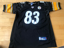 100 Authentic Pittsburgh Steelers Heath Miller 83 Stitched Jersey Sz 52