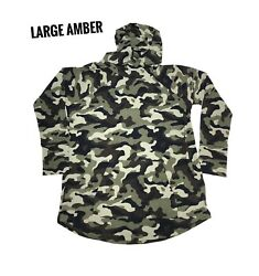 Large Lularoe Amber Hoodie Camo Army Green Fits 14/16 Jersey Material