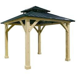 10and039x10and039 Patio Gazebo Canopy Party Tent Shelter Hardtop Outdoor Garden 2-tier