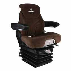 Seat Assembly Grammer Air Suspension Fabric Brown Fits John Deere
