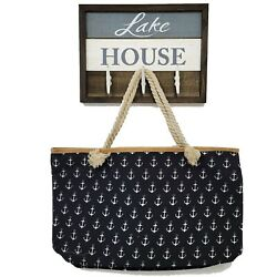 Beach Bag with Anchors Large Tote Bag Limited Supply $12.99