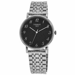 New Tissot T-classic Everytime Black Dial Menand039s Watch T109.410.11.072.00