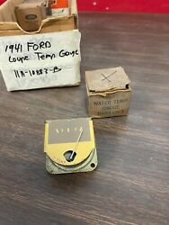1941 Ford Coupe King Seeley Temperature Gauge Nos Ford 721