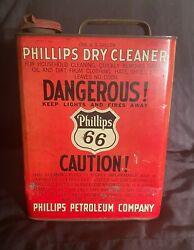 Vintage Phillips 66 Dry Cleaners Can