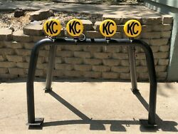 KC 5101 Hard Light Cover Yellow w Black Decals 6quot; Round Daylighter Hilites