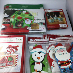 Lot 42 Christmas Holiday Cookie Containers Favor Boxes Treat Boxes With Tag New