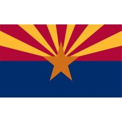 Valley Forge Flag 5foot By 8foot Nylon Arizona State Flag With Canvas Header An