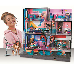 Lol Surprise Omg House Real Wood Doll House W/ 85+ Surprises Brand New Kid's Toy